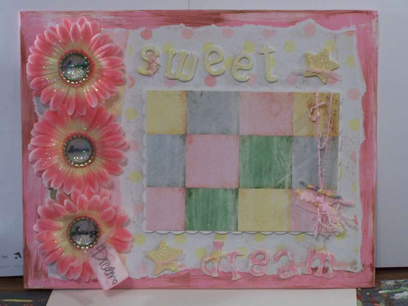Altered Canvas Baby Room Decor