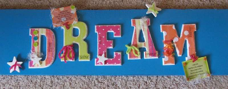 "Altered Letters ""Dream"""
