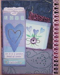 Lavender & Blue Hearts