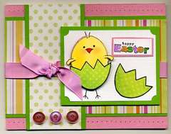 Pink and Green Easter Card
