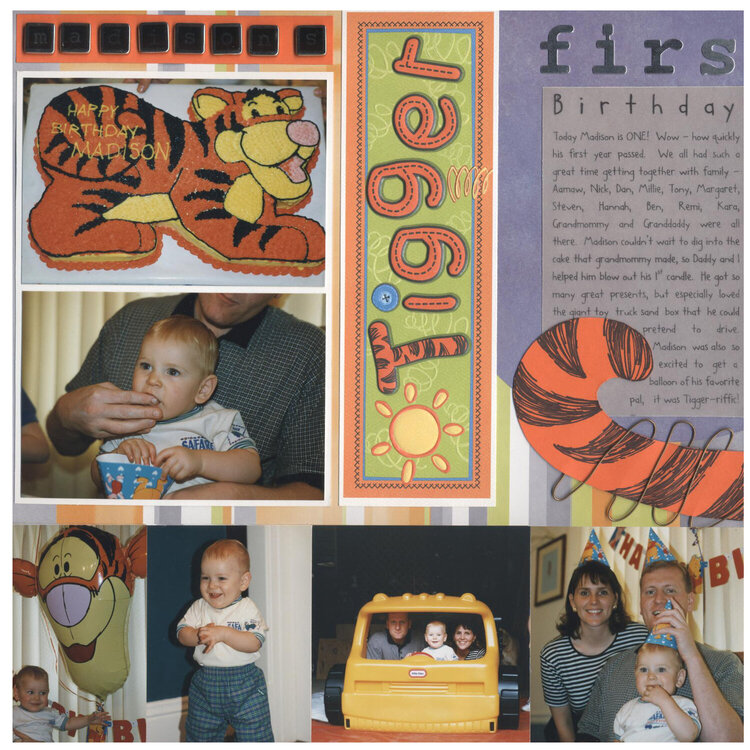 Madison's First Birthday Page 1