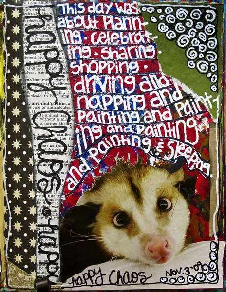 Art Journal Class - November 3 Prompt...