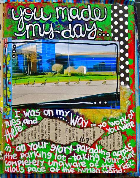 Art Journal Class - November 7th Page...