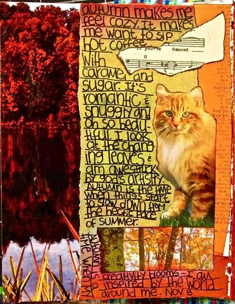 Art Journal Class - November 8th Page...