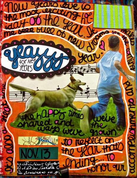 Art Journal Class - November 14th Page...