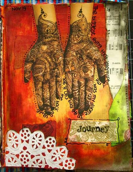Art Journal Class - November 19th Page...