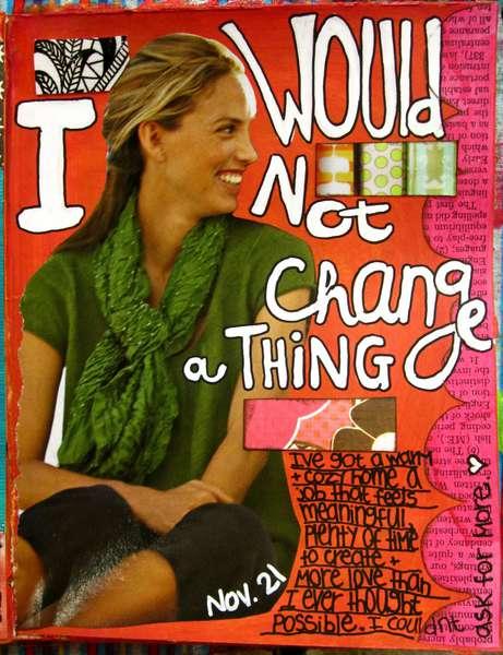 Art Journal Class - November 21st Page...