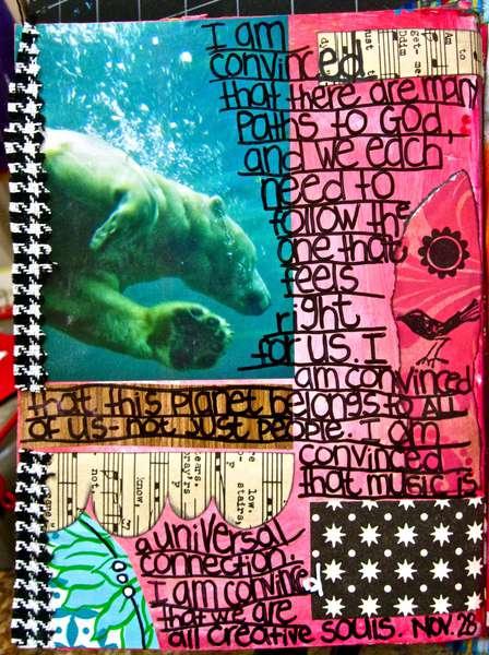 Art Journal Class - November 28th Page