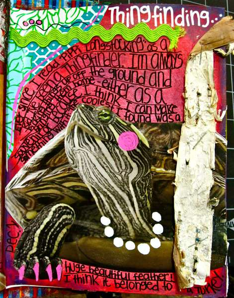"""Art Journal """"A Prompt-A-Day"""" December 1st Page"""