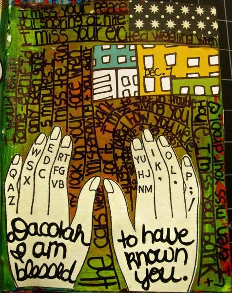 Art Journal Page - December 7