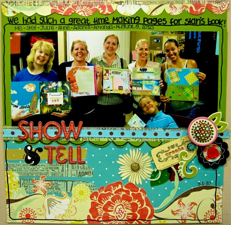 Show & Tell *August Scarlet Lime Kit*  (Scrapping The Music)
