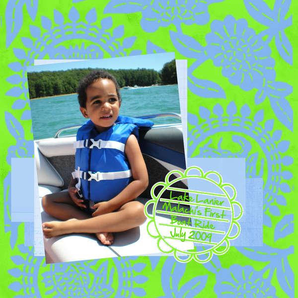 Malachi's first boat ride