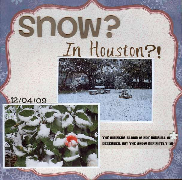 Snow?  In Houston?!