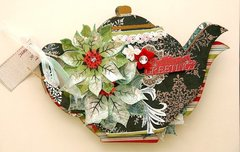 Holiday Greetings Teapot Mini Album