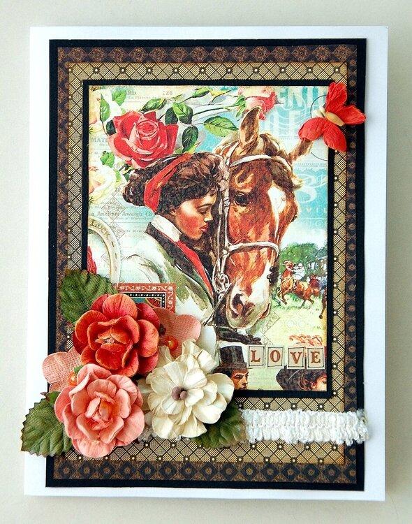 Love Tri-fold card