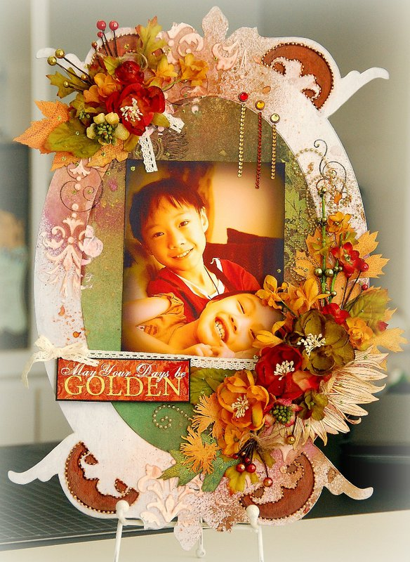 May Your Days Be Golden Altered Frame