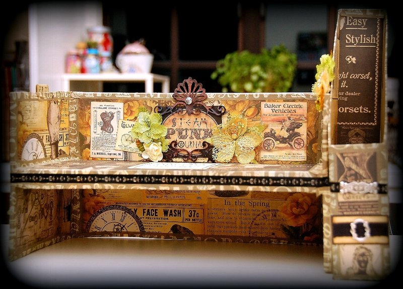 Table Organizer using Recycled Boxes