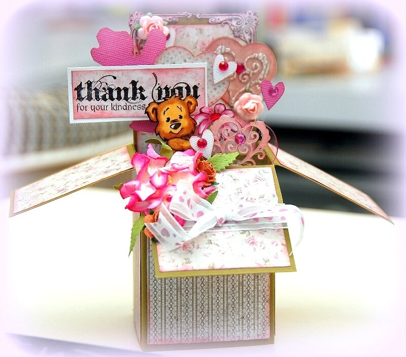 Thank You For Your Kindness Box Card