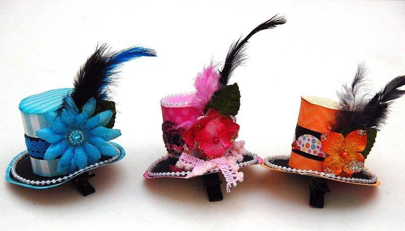 Mini Top Hat Clips