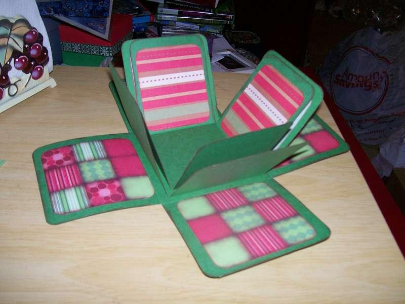 Christmas Exploding Box 1st layer