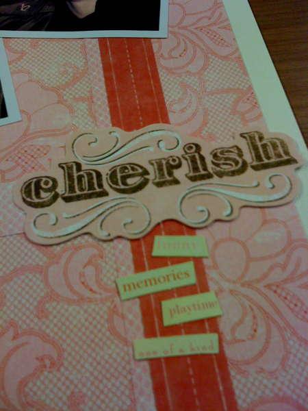 Cherish close up