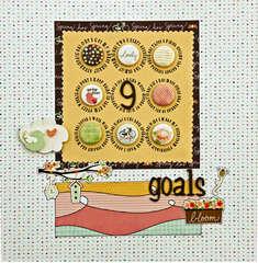 9 goals *A Million Memories March Challenge*