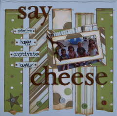 Say Cheese  May scraplift/sketch challenge