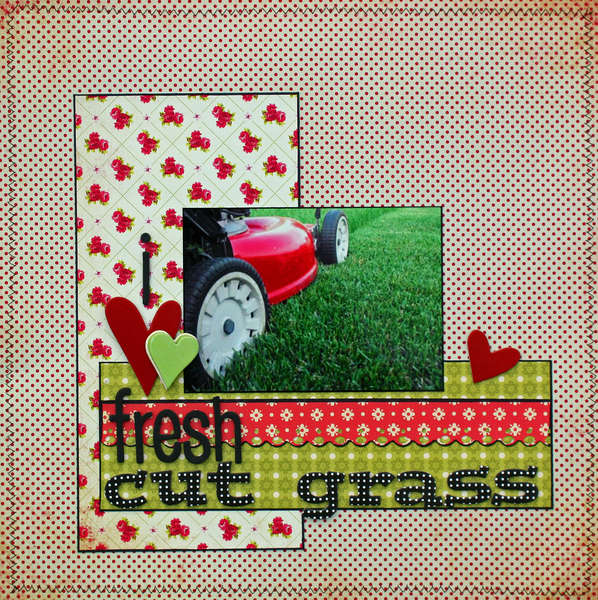 "I ""heart"" fresh cut grass {Twisted Sketches 86}"