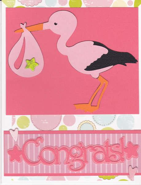 Congrats...Baby Girl Card