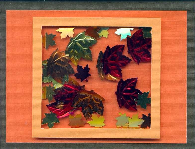 Fall shaker card