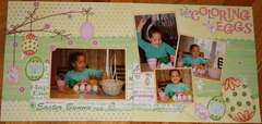 Coloring Eggs - Double Page