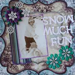 Snow Much Fun - Left Page