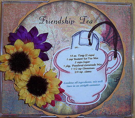 Altered cd Friendship Tea Recipe for Adrian