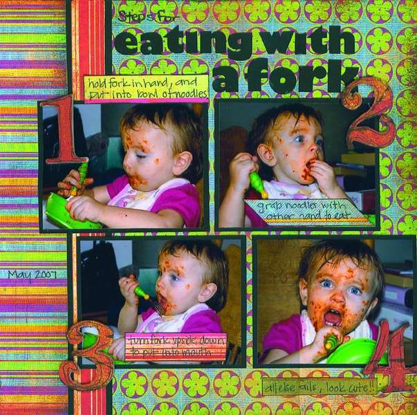 eating with a fork