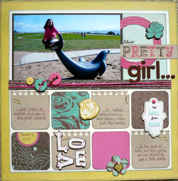 This Pretty Girl {Share with Flair Feb Kit}
