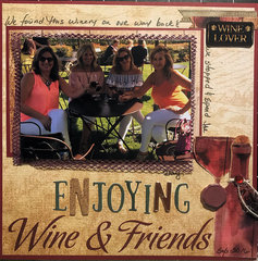 Enjoying Wine and Friends