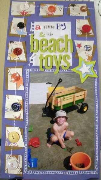 A Little Boy & His Beach Toys