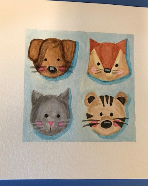simply watercolor class day 2: cute animals
