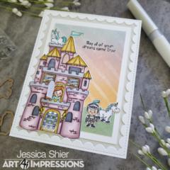 Unicorn Castle Card