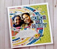 Color Me Happy - Scrapbook.com Exclusive Digital Cut File