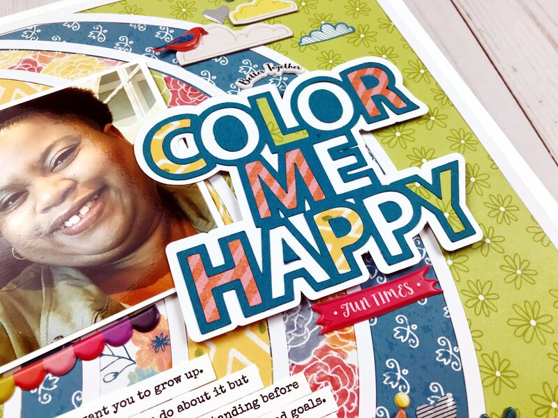 Color Me Happy - Scrapbook.com Exclusive Digital Cut File