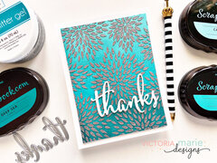 Thanks Card by Victoria Calvin (Cards of Kindness Class)