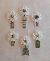Hand Crochet Flower Ornaments Gift Toppers Pic 1