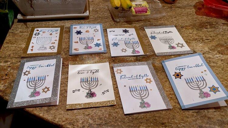 Hanukkah Cards for the JRA