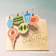 Brilliant Baubles Trifold Christmas Card