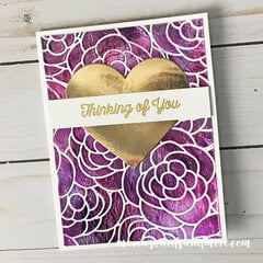 Rose Bloom Deco Foil Card