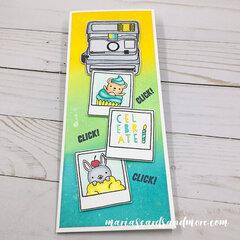 Oh Snap Ink Blended Slimline Card