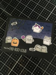 2 x So Many Ghosts | MFT Fab boo lous Cards | Halloween 2018 Series 7