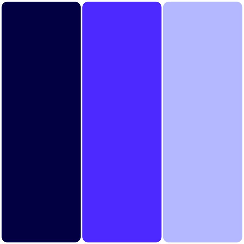 Dark Blue, Blue, Light Blue Solid Colored Bookmarks from Greeting Cards