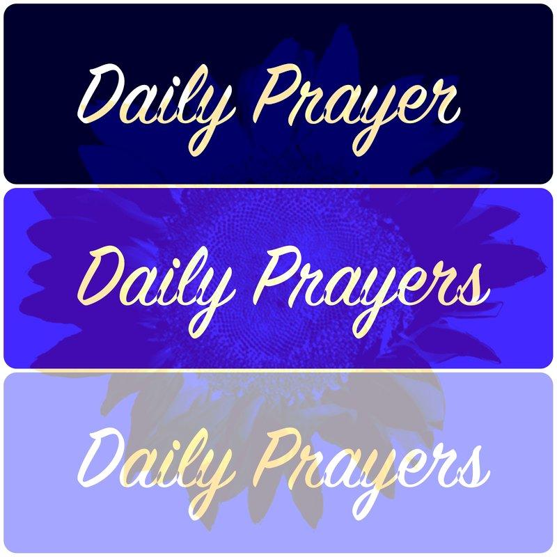 Blue Daily Prayers Bookmarks